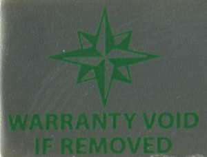 Aluminum Warranty Void label