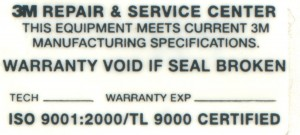 Polyester Void and Service label
