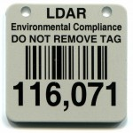 Alum Tag Teflon Bar code Rivet Drake Labels