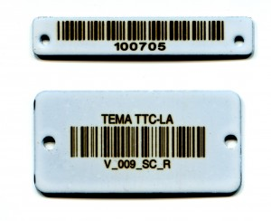 Ceramic Coated Stainless Steel Barcode Tags