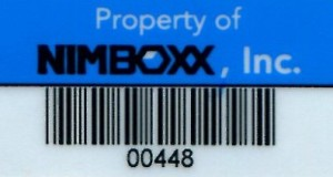 Polyester Asset Tag with Linear Barcode