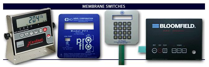 Membrane Switches are  Chemical and Abrasion Resistant, Environmentally Sealed (protected circuitry), and Easy to Clean (resistant to soaps and sulphates)