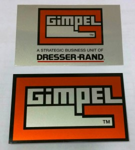 Orange & Black Metalphoto® Anodized Aluminum Plates with Acrylic Pressure Sensitive Adhesive