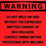 Oil & Gas warning label