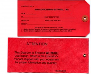 Reinforced, Red Paper Tags