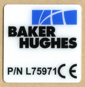 CE Polycarbonate Regulatory label