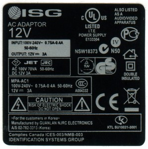 Polyester Regulatory label - UL RoHS UL CE logos per PGAA.MH14125