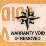 """Tamper Resistant or """"Void"""" label."""