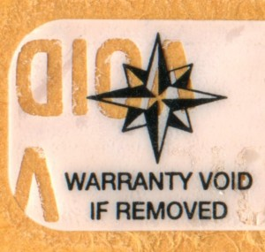 Polyester Warranty Void Labels