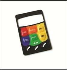 Silicone Rubber Keypad with mulitiple colors of silicone rubber