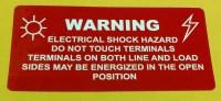 Solar Installation Label (Polyester) - Red Warning