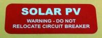 Solar Installation Label (Polyester) - Red Warning/Hazard