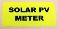Solar Installation Label (Polyester) - Yellow ID Identification