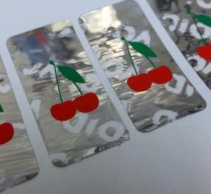 Brite Silver Polyester Tamper Resistant Label
